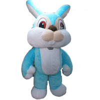 粉藍兔子Baby Blue Rabbit Mascot
